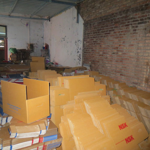 Fake, marked NSK cartons found piled on the floor