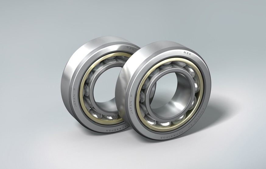 Angular Contact Ball Bearings with Outer Ring Brass Cage